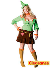 Adult Sexy Scarecrow Costume Plus Size - Wizard of Oz
