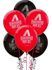 Arizona Diamondbacks Latex Balloons 12in 6ct