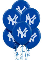 New York Yankees  Latex Balloons 12in 6ct