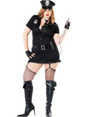 Adult Dirty Cop Costume Plus Size
