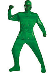 Adult Green Army Man Costume Deluxe - Toy Story
