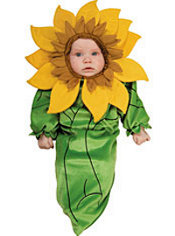 Baby Sunflower Costume Baby Bunting