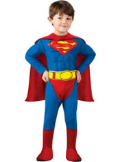 Toddler Boys Superman Muscle Costume