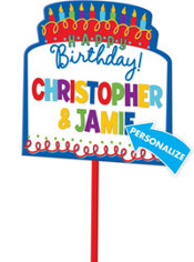Personalized Birthday Yard Sign 14in x 15in