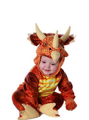 Baby Red Triceratops Costume
