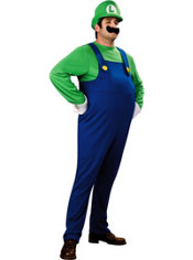 Adult Luigi Costume Plus Size Deluxe - Super Mario Brothers
