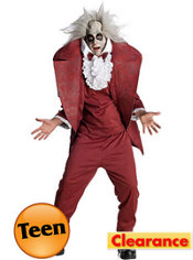 Teen Boys Shrunken Head Beetlejuice Costume