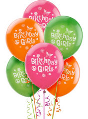 Happy Birthday Hippie Chick Balloons 6ct