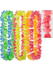 Rainbow Flower Leis 6ct