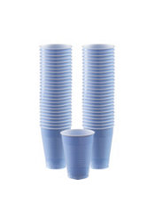 Pastel Blue Plastic Cups 50ct