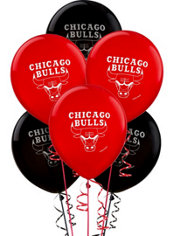 Chicago Bulls Balloon 6ct