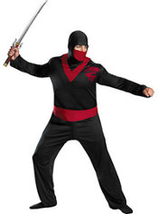 Adult Ninja Warrior Costume Plus Size