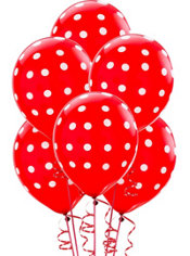 Red Polka Dot Balloons 6ct