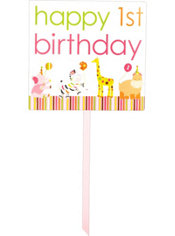 Pink Sweet at One 1st Birthday Yard Sign