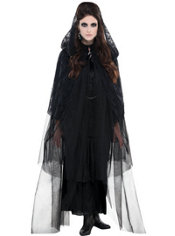 Adult Black Lace Cape