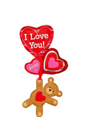 Foil Love Bear Valentines Day Balloon 53in
