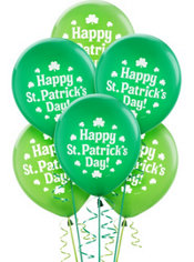 Latex St. Patricks Day Balloons 12in 15ct