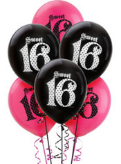 Sweet 16 Balloons 6ct