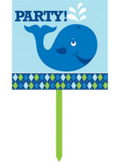 Ocean Preppy Party Yard Sign