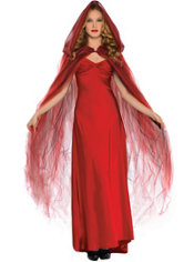 Scarlet Temptress Red Hooded Cape