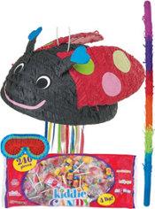 Pull String Ladybug Pinata Kit