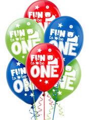 Wild at One Boy's 1st Birthday Balloons 15ct