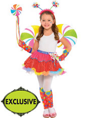 Girls Lollipop Fairy Costume