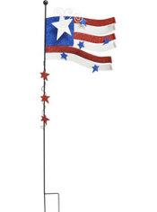 Glitter American Flag Garden Stake