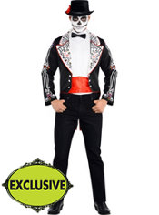 Adult Dashing Day of the Dead Senor Costume