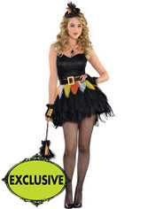 Adult Flirty Candy Corn Witch Costume