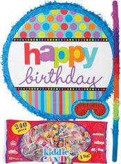 Dots & Stripes Happy Birthday Pinata Kit