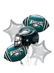 Philadelphia Eagles Football Balloon Bouquet 5pc Party City