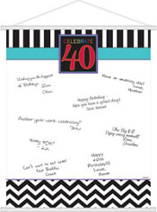 Celebrate 40th Birthday Sign-In Sheet