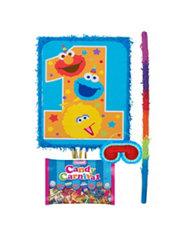 1st Birthday Sesame Street Pinata Kit