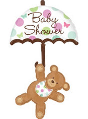 Foil Hugs and Stitches Baby Shower Balloon 49in