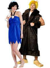 Betty Rubble and Barney Rubble Flintstones Couples Costumes