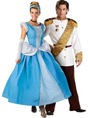 Prestige Cinderella and Elite Prince Charming Couples Costumes