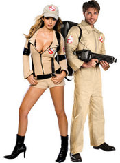 Sexy Ghostbuster and Ghostbusters Couples Costumes