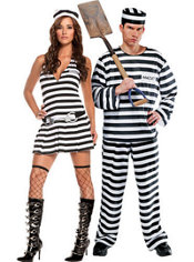 Irresistible Inmate and Jailbird Convict Prisoner Couples Costumes