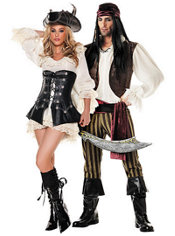 Rouge Pirate and Rogue Pirate Couples Costumes
