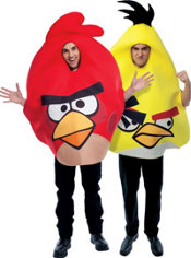 Yellow and Red Angry Birds Couples Costumes