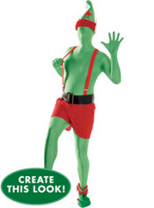 Adult Trendy Elf Morphsuit Costume Set