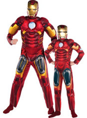 Iron Man Daddy and Me Muscle Costumes
