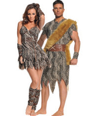 Club Dweller and Goin Clubbin Cavewoman Couples Costumes