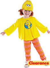 Toddler Girls Big Bird Costume - Sesame Street