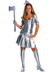 Teen Girls Tin Woman Costume - Wizard of Oz