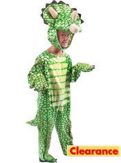 Toddler Boys Green Triceratops Dinosaur Costume