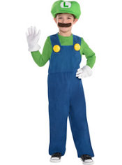 Boys Luigi Costume - Super Mario Brothers