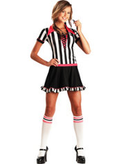 Teen Girls Racy Referee Costume