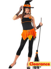 Teen Girls Sassy Witch Costume